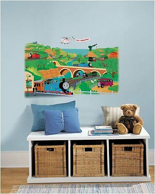 THOMAS the TRAIN Giant Map Wall Decals Room Decor Stickers Mural Decorations NEW & THOMAS THE TRAIN Giant Map Wall Decals Room Decor Stickers Mural ...