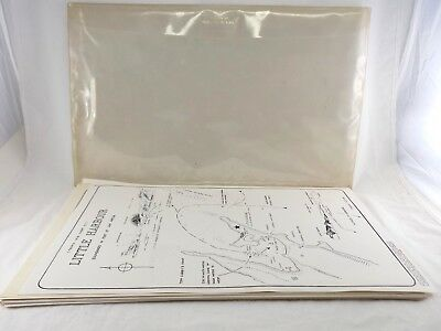 (27) Vintage 1970's BAHAMAS NAUTICAL MAP CHARTS by Harry Kline w/ Original Case