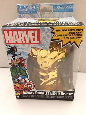 Marvel Thanos Infinity Gauntlet Dig-It Display! Includes An Exclusive Soul Gem!