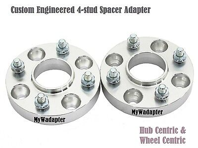 Black Commodore Spacer Adapters 25 mm 5x120 Hub Centric 2 pcs Holden pre-VE