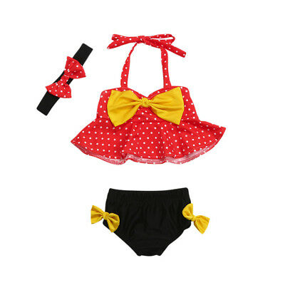Baby Girls Swimsuit, Baby Girls Minnie Swimsuit, Bathing Suit, Swimwear 6m-24m