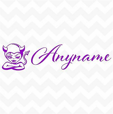 DEVIL WOMAN custom name personalised vinyl sticker for wall car home device