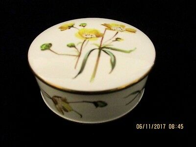 ~Spode Summer Meadow Lidded Trinket Dish - England - Vgc~