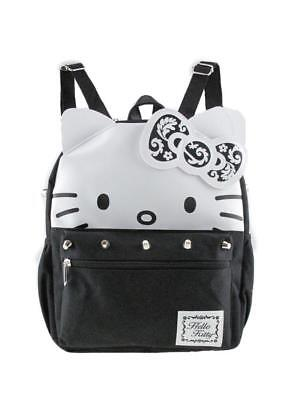 "Licensed Leather Hello Kitty 12"" Silver Stud Small/Mini Backpack"