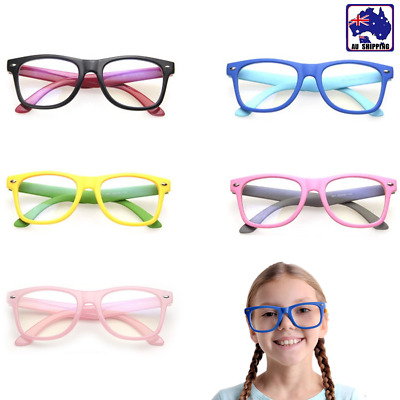 Kid Radiation Protection Glasses PC TV Clear Lens +0 Eyewear Party Watch JGL0007