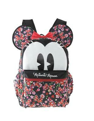 """Disney Minnie Mouse 16"""" 3-D Style School Backpack For Women Or Girls"""