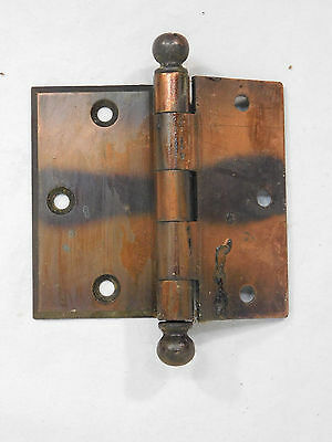 Antique Craftsman Style Door Hinges - Circa 1915 Ball Top Architectural Salvage