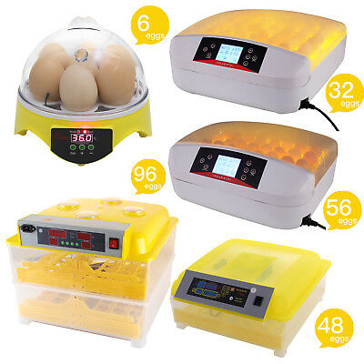 Digital 7/32/48/56/96 Egg Incubator Hatcher Bird Chicken Duck Automatic Turning