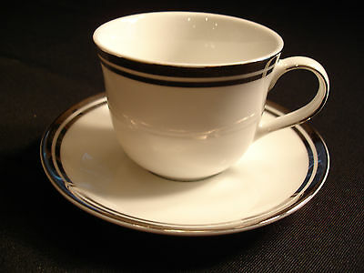 New ROYAL DOULTON PURE PLATINUM China Cup & Saucer (s) New