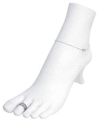 Foot Mannequin Display Toe Ankle jewelry Bracelet Ring Chain Stand White Store