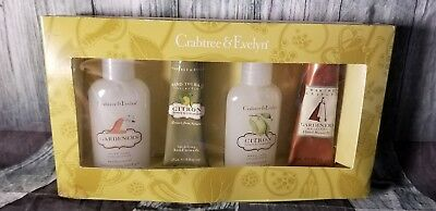 NEW Crabree & Evelyn Hand Care Therapy Remedy 4 pc Gift Set Citron Gardeners