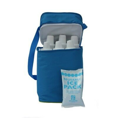 New J.L Childress 6 Bottle Cooler - Blue / Green Free Express Shipping