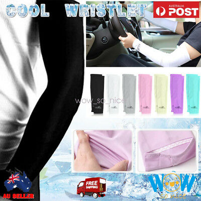 NEW Cooling Sport Outdoor Arm Stretch Sleeves Sun Block Sun UV Protection Covers