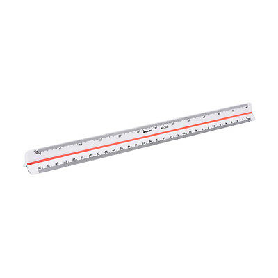 300mm 1:100~1:500 Triangular Metric  Scale Ruler For Engineer 12.6''、New