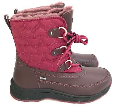 f979b9620c7 UGG LACHLAN PREMIUM Snow Boots Waterproof Leather and Quilted Nylon Size 8.5