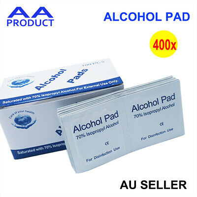 400pcs  Alcohol Pad Antiseptic Swab Wipes 70% Isopropyl Nail Cleansing Skin Prep