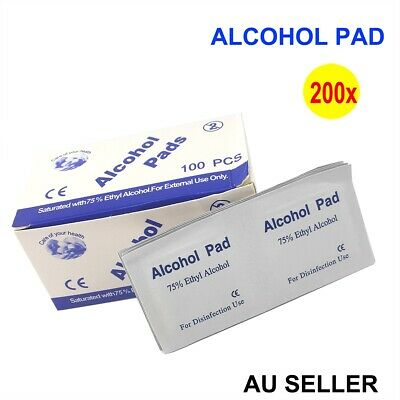 200pcs  Alcohol Pad Antiseptic Swab Wipes 70% Isopropyl Nail Cleansing Skin Prep
