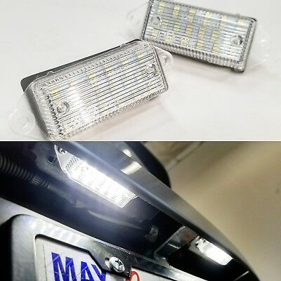 18-SMD Xenon White LED License Plate Light Assembly 2003-2017 Lancer EVO sedan