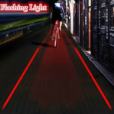 Bike 2 Laser+ 5 LED Lamp Light Rear Flashing Cycling Bicycle Tail Safety Warning