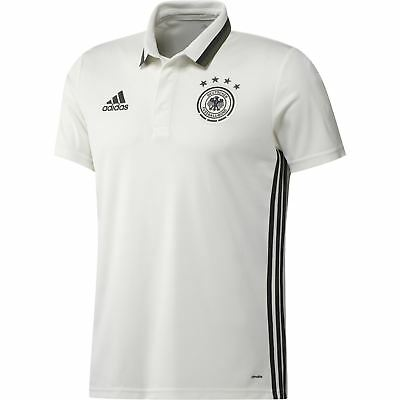 a2aee0884378 adidas GERMANY NATIONAL TEAM POLO FOOTBALL SOCCER EUROS WHITE MEN S NEW BNWT