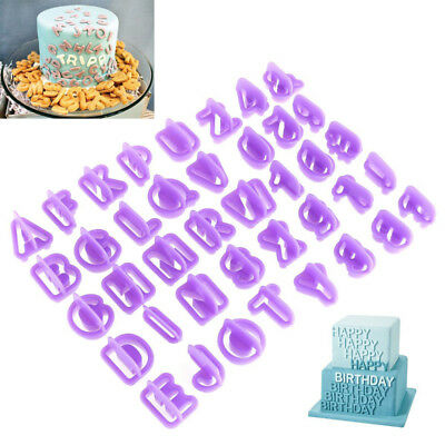 New Letter Shape Fondant Cake Cutter Plunger Cookie Mold Sugar craft Decorating