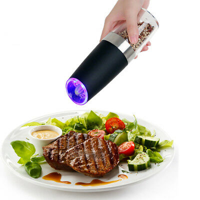 Stainless Steel Led Light Automatic Electric Salt Pepper Mill Grinder