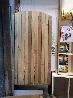 Brand new timber garden gate