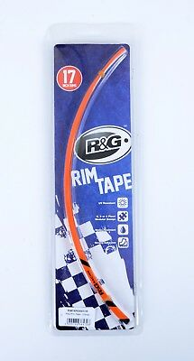 R & G Wheel Stripes - 16-Piece Modular Motorcycle Rim Tape - Orange