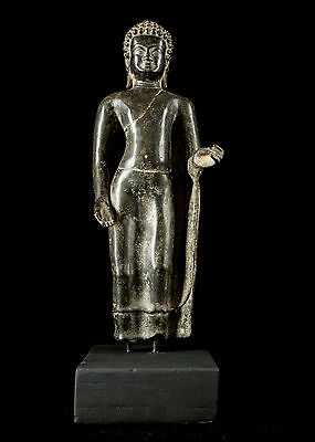 19th Century Thai Bronze Abhaya Mudra Protection Buddha Statue - 45cm/18""