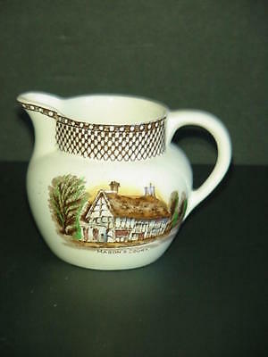 Myott Shakespeare Land Creamer Made England Brown Multicolor