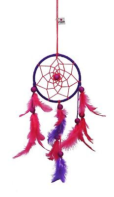 Rooh dream catcher  Pink and Purple  (small) Handmade Hangings for Positivity