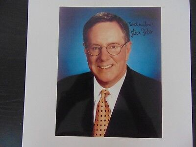 """""""Forbes Magazine"""" Steve Forbes Signed 8X10 Color Photo Todd Mueller COA"""