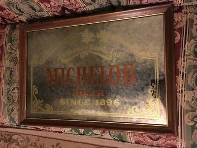 Michelob beer sign mirror vintage bar old display bar Anheuser-Busch - 26 X 18