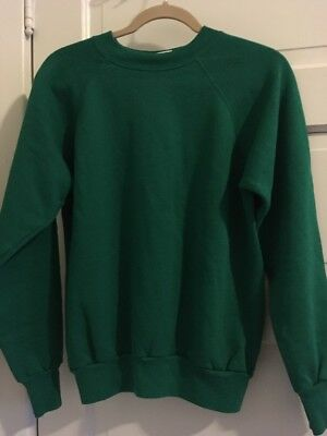Vintage Pannill by Hanes Green Sweatshirt Soft Long Sleeve Shirt Size Large USA