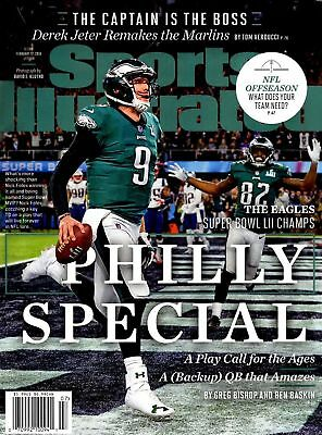 Sports Illustrated 2018 - Nick Foles -Philadelphia Eagles -Super Bowl LII CHAMPS