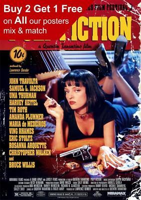 Pulp Fiction Classic Movie Poster A5 A4 A3 A2 A1
