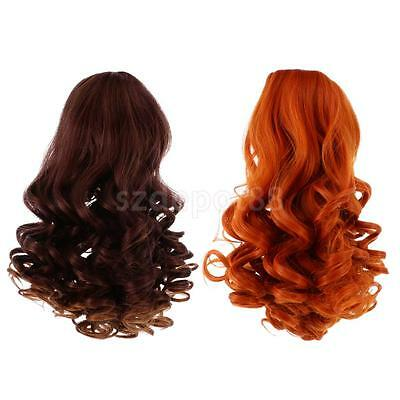 2pcs High-temperature Wire Curly Wig Hair for 18'' American Girl Doll #5+#6