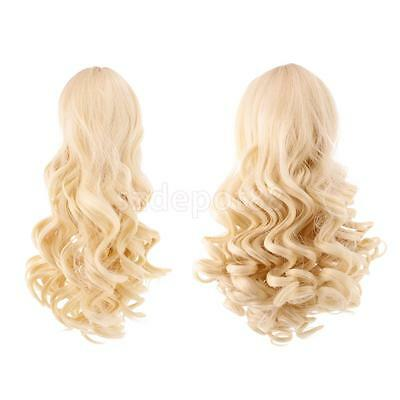 2pcs High-temperature Wire Curly Wig Hair for 18'' American Girl Doll #4+#10