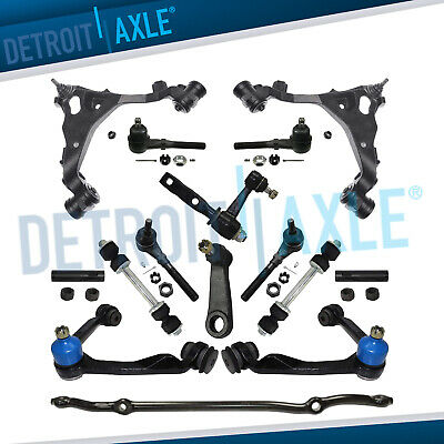 Pitman Arm /& Adjusting Sleeve for 2WD Ford Expedition//F-150 // F-250 // Lincoln Navigator 13pc Front Upper Control Arms w//Ball Joints Inner Outer Tie Rods Sway Bars Detroit Axle See Fitment