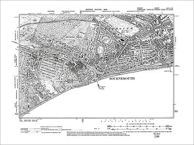 Bournemouth, old map Dorset 1902: 44SE