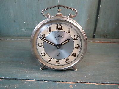 ancien Réveil jaz made in France français old alarm clock vintage design
