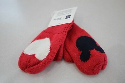 Baby Gap Mickey Mouse Heart Love Mittens size XS/S 11cm (12-24M) New