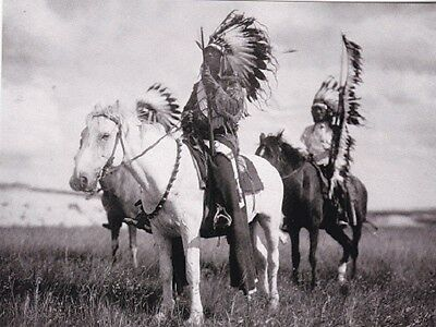 "*Postcard-""2 Sioux Indian Chiefs...on Horseback""  (B223)"