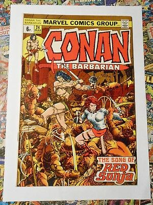 Conan The Barbarian #24 - Mar 1973 - Red Sonja Appearance! - Fn/vfn (7.0)