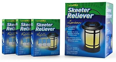 Thermacell Skeeter Reliever Lantern plus 9 FREE refills NEW fast ship