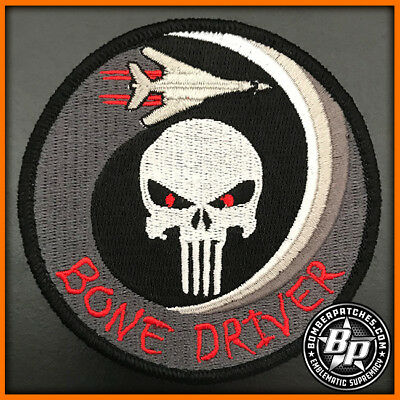 """9Th Bomb Squadron """"Bone Driver"""" Embroidered Patch, B-1B Lancer Dyess Afb"""