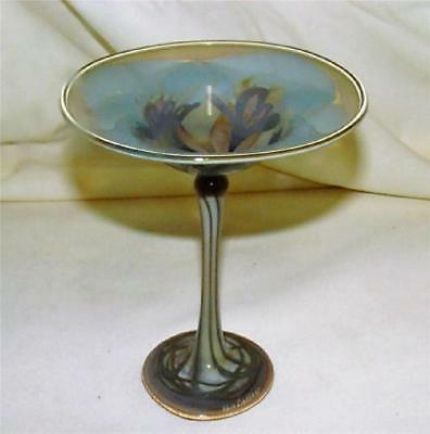Vera Walther Hand Made Blown Martini Style Dish Bowl Vase Germany