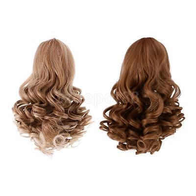 2pcs High-temperature Wire Curly Wig Hair for 18'' American Girl Doll #1+#3