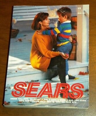 Vintage 1991-92 Fall Winter Annual Sears Roebuck Catalog