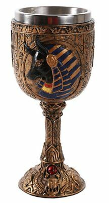 Ancient Egyptian God of the Afterlife Anubis Wine Goblet Chalice Egypt Cup
